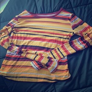 Tops - Long sleeve stripped soft tee (only worn once)